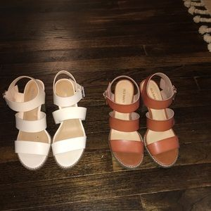 Two pairs of block heels. SIZE 6.